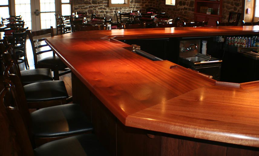 Lovely Finishing A Bar top