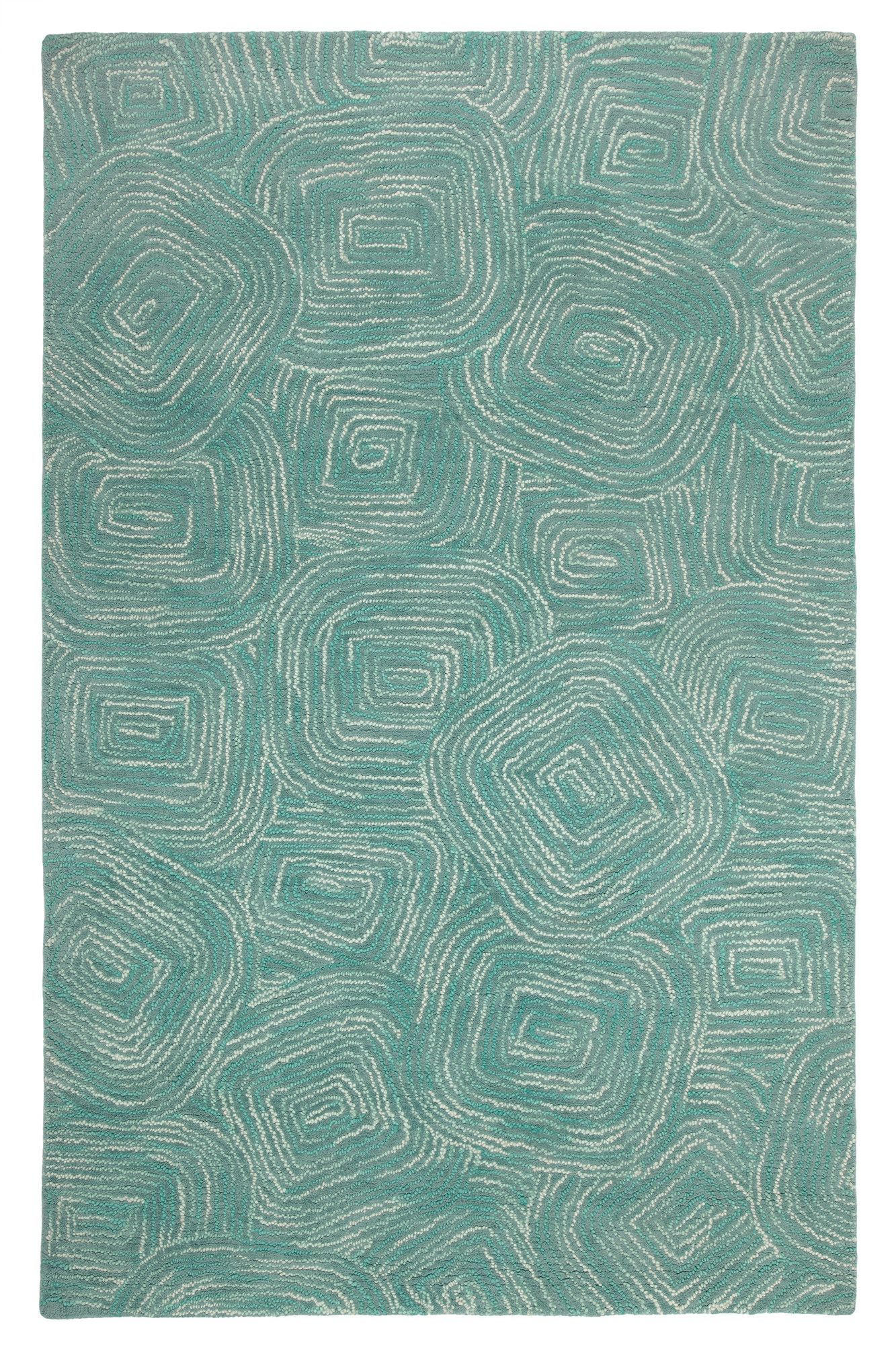 Company C Paint The Town Lake Swirling Blue Area Rug Area Rugs