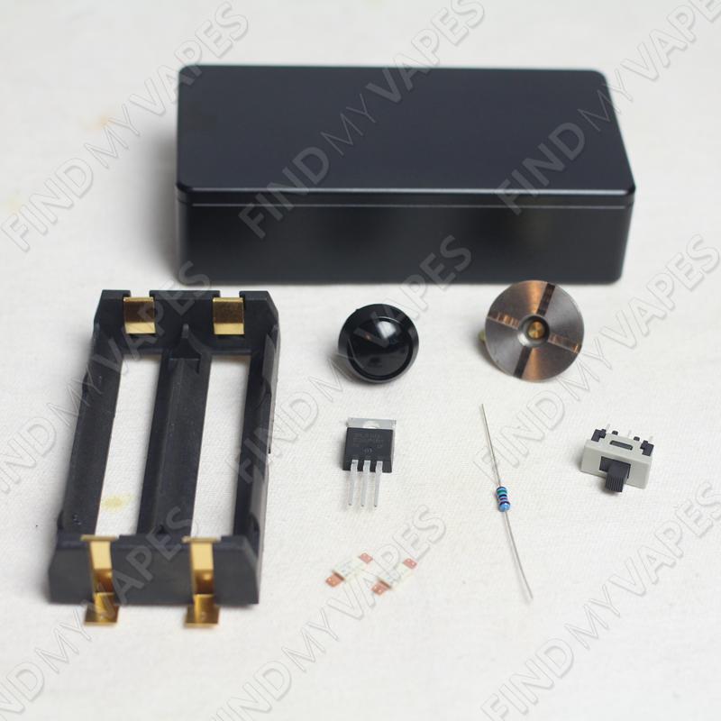 DIY Unregulated Dual 18650 Box Mod Kit Box mods, Vape