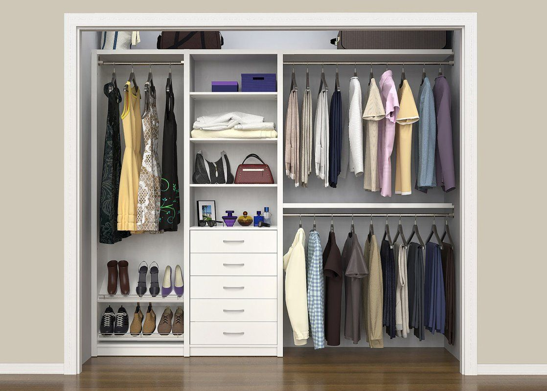 Spacecreations 64 W 99 W Closet System Reach In Sets Closet Remodel Closet Layout Home Depot Closet