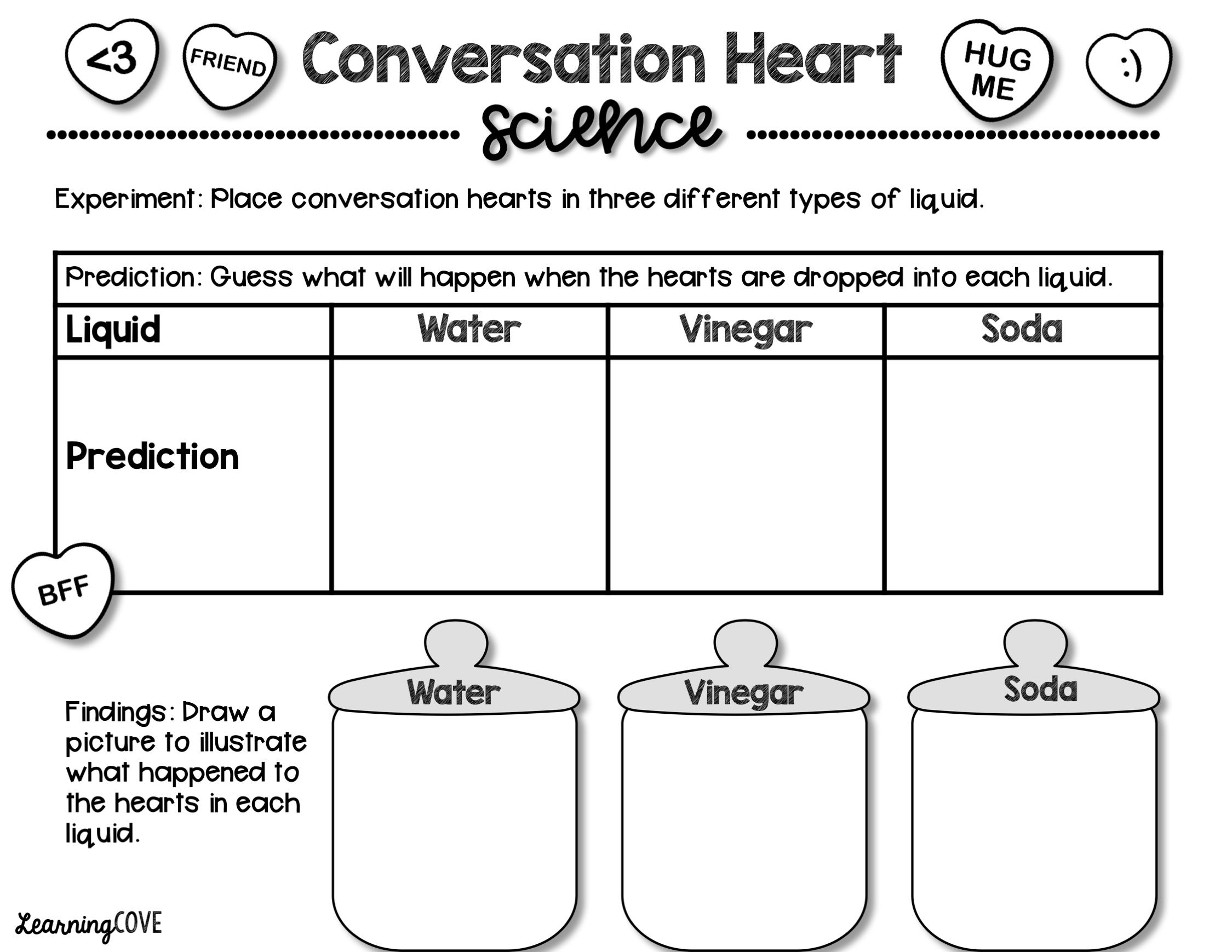 Conversation Hearts Valentine S Day And Kindness Activity
