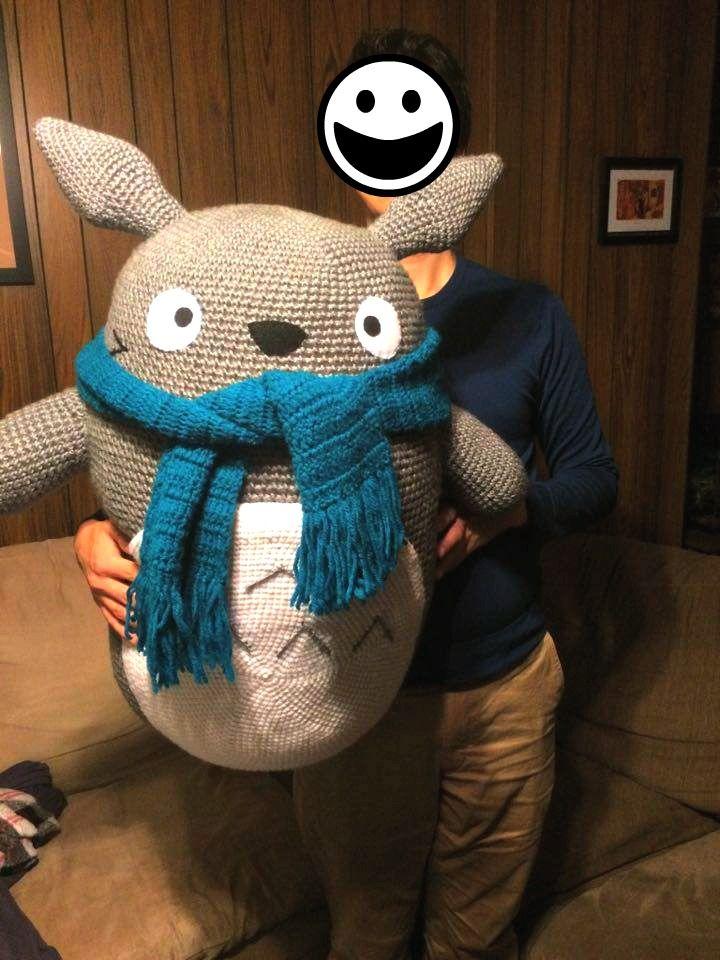 Giant Crochet Totoro Plush by ArtisansShadow