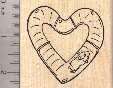 Valentine's Day Hamster Rubber Stamp (K20120) $12 at RubberHedgehog.com