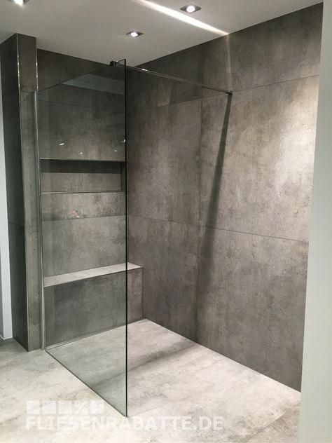 Photo of New in our showroom Dortmund. Tile in concrete look 100x100cm by Ariostea S …