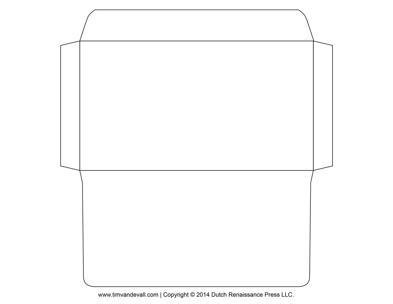 graphic regarding Printable Envelope Templates named printable envelope template OCC Shoebox Envelope