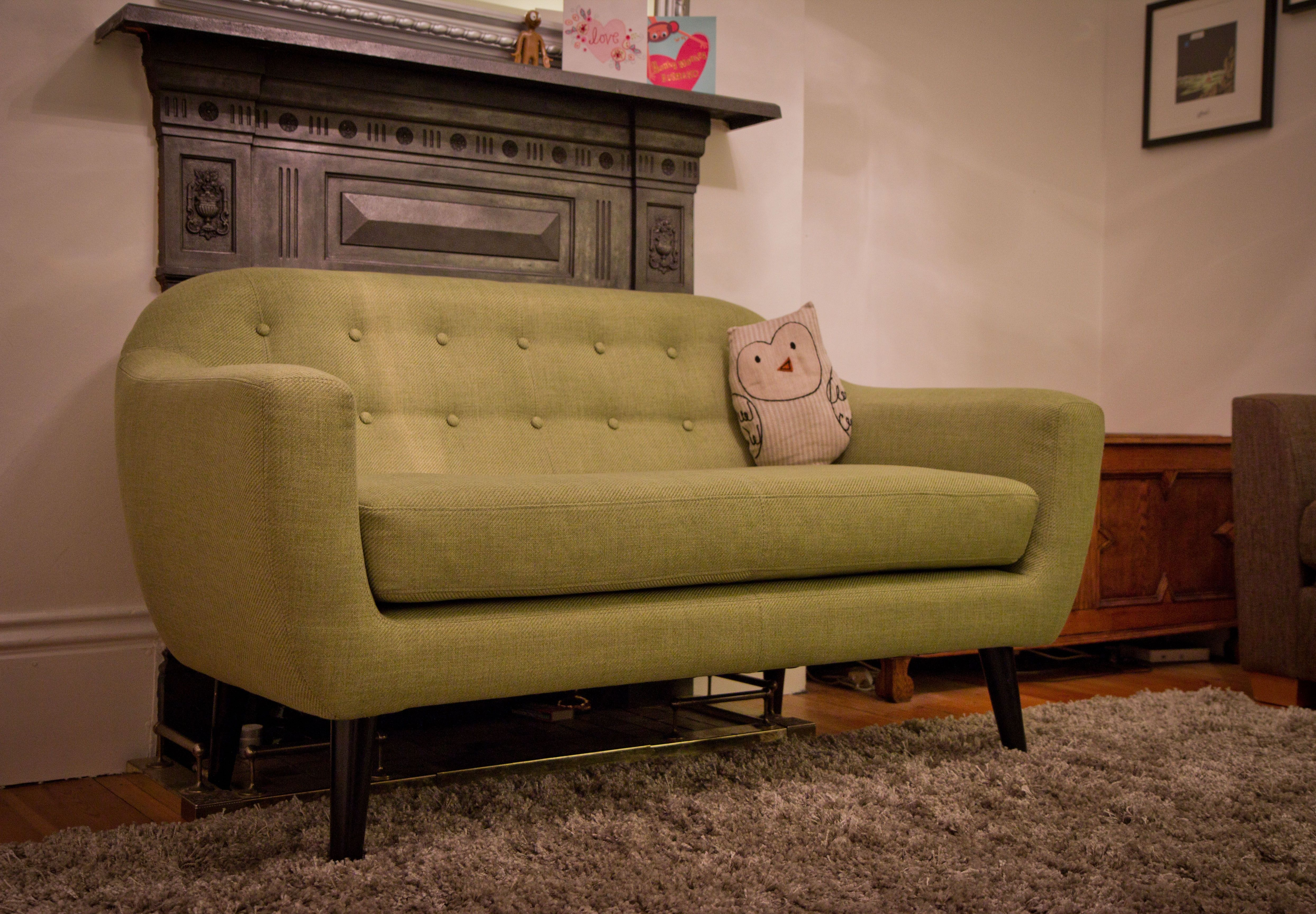 MADE Ritchie 2 Seater Sofa Lime Green Submitted by Werner
