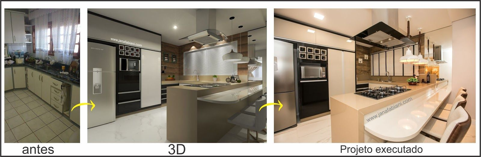 Reforma De Cozinha Antes E Depois Reforma De Cozinha Projeto 3d