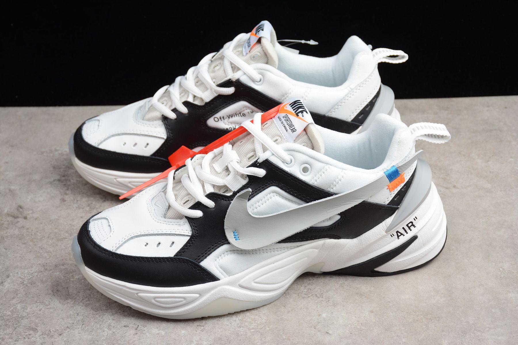Nike And X 2018 Off M2k Men's Grey Women's White Blackwhite Kekno 0Nnwv8m