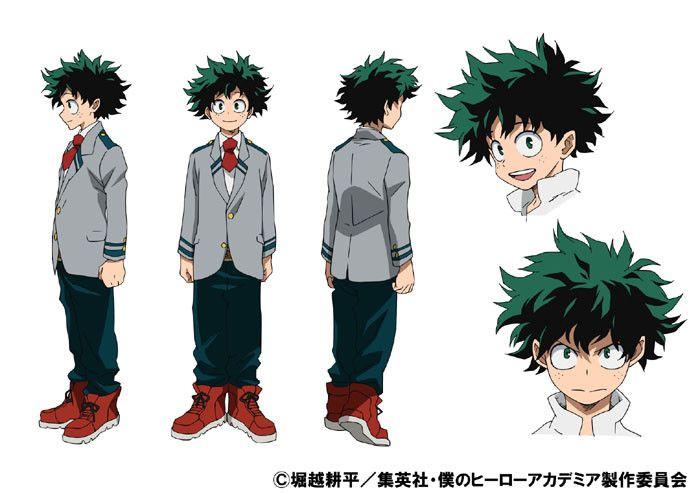 Resultado de imagen de personajes boku no hero academia deku