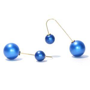 Double Side Hoop Earrings(Neon Blue)