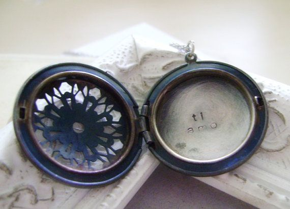Into lockets lately, not sure why. Love this locket with a super secret message inside!