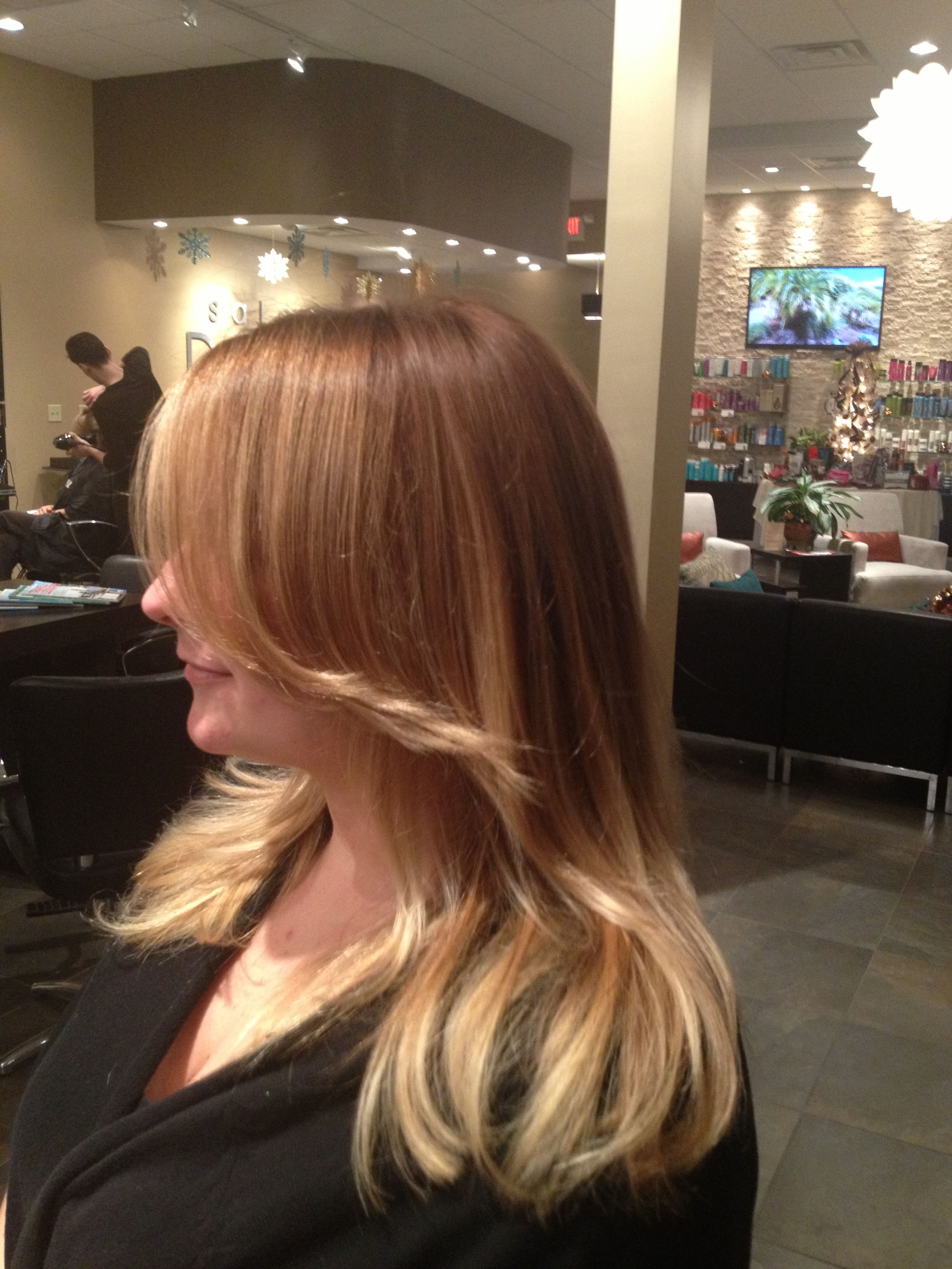 Copper Blonde Base Redken 6gg 7c Shades Subtle Ombre To