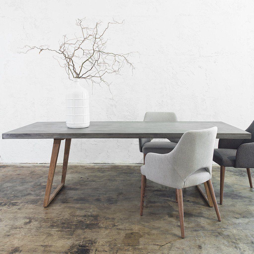Béton Déco Du Plancher Au Plafond White Dining Table