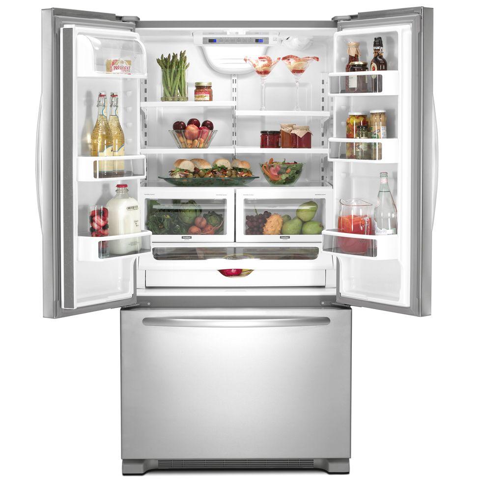 French Door 22 cubic foot french door refrigerator pictures : 2. Samsung RFG237AA Counter Depth French Door Bottom Freezer ...