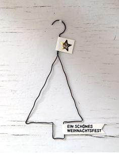 Drahtanhänger Weihnachten m Text #kleineweihnachtsgeschenkekollegen