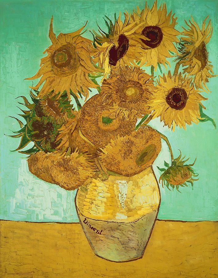 Van Gogh Bodegón Jarrón Con Quince Girasoles 1889 Van Gogh Art Van Gogh Sunflowers Van Gogh Paintings