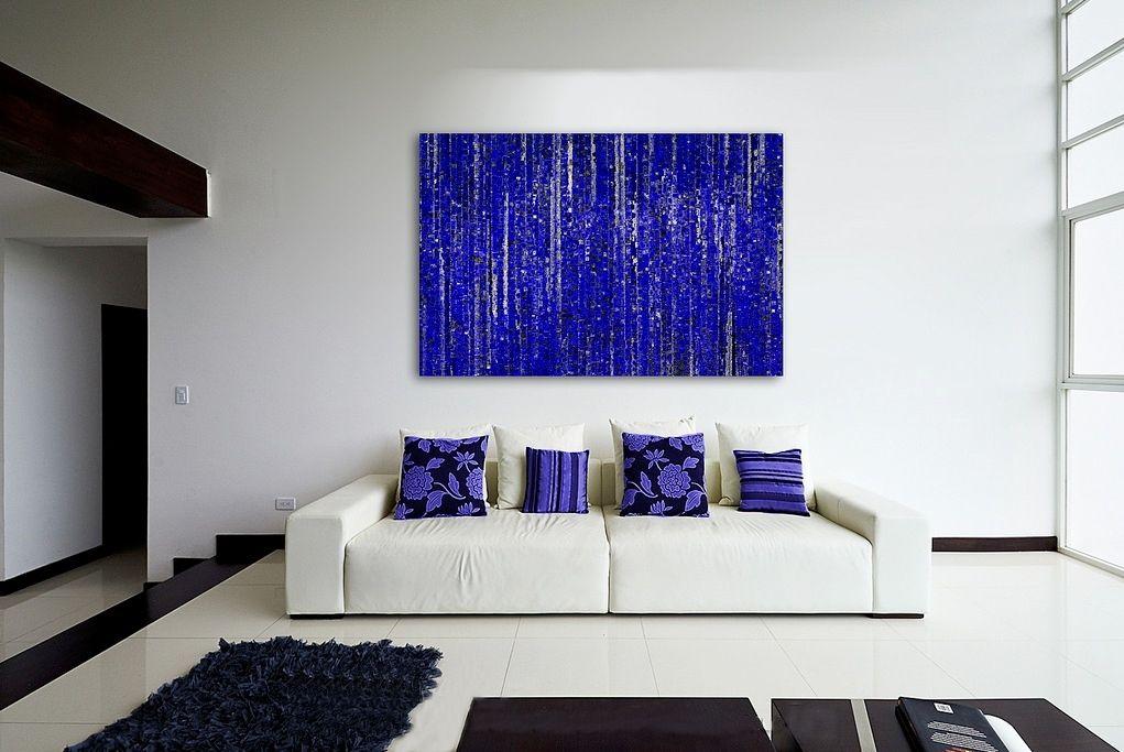 White Sofa And Black Dark Blue Cushion White Ceramic Tile Also