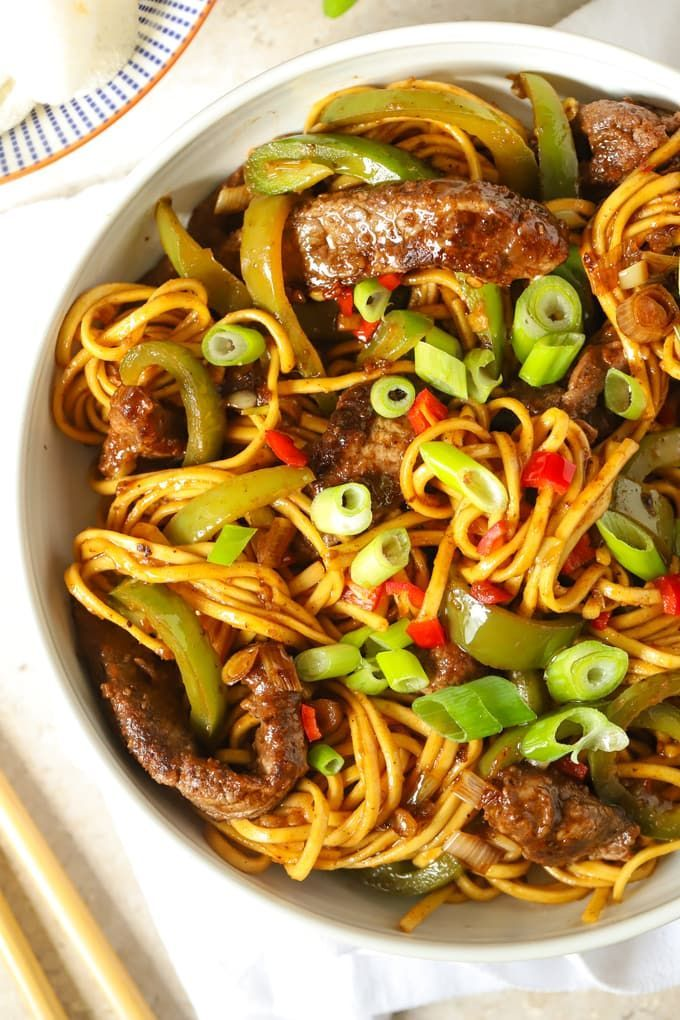 Beef Stir Fry with Noodles and Sticky Sauce  Quick  Delicious  BEEF STIR FRY with Noodles and Sticky Sauce  Coated in a delicious sticky homemade sauce is a o