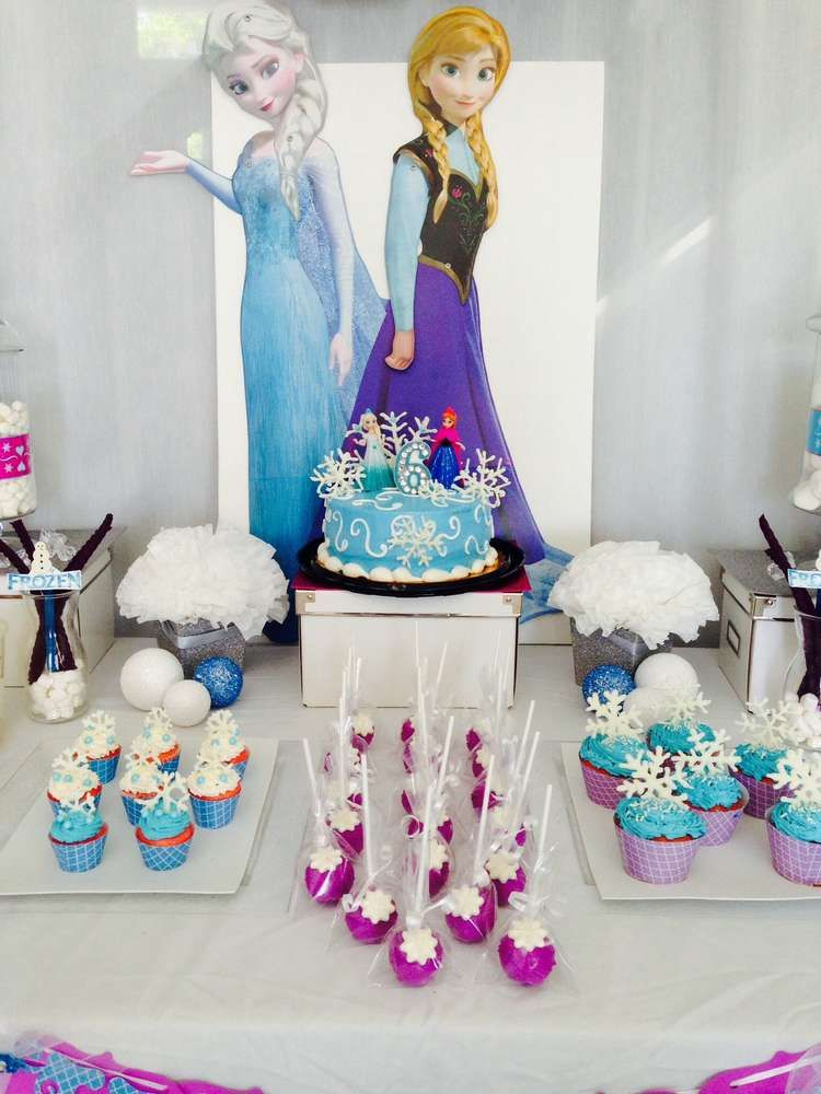 Dessert table at a Frozen girl birthday party See more party ideas