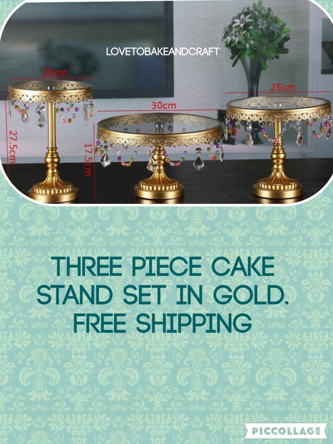 A Personal Favourite From My S Com Uk Listing 398515803 Wedding Cake Stands Gold 3 Piece