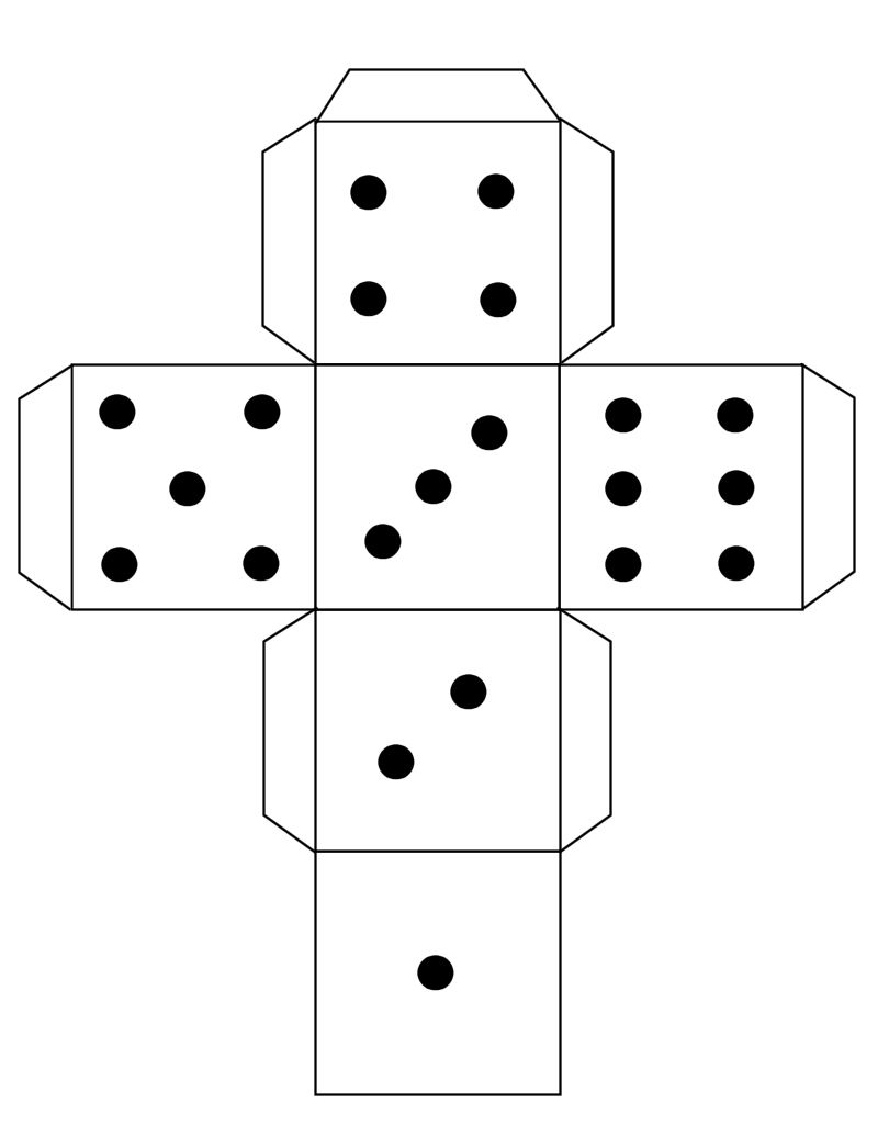 3d dice layout