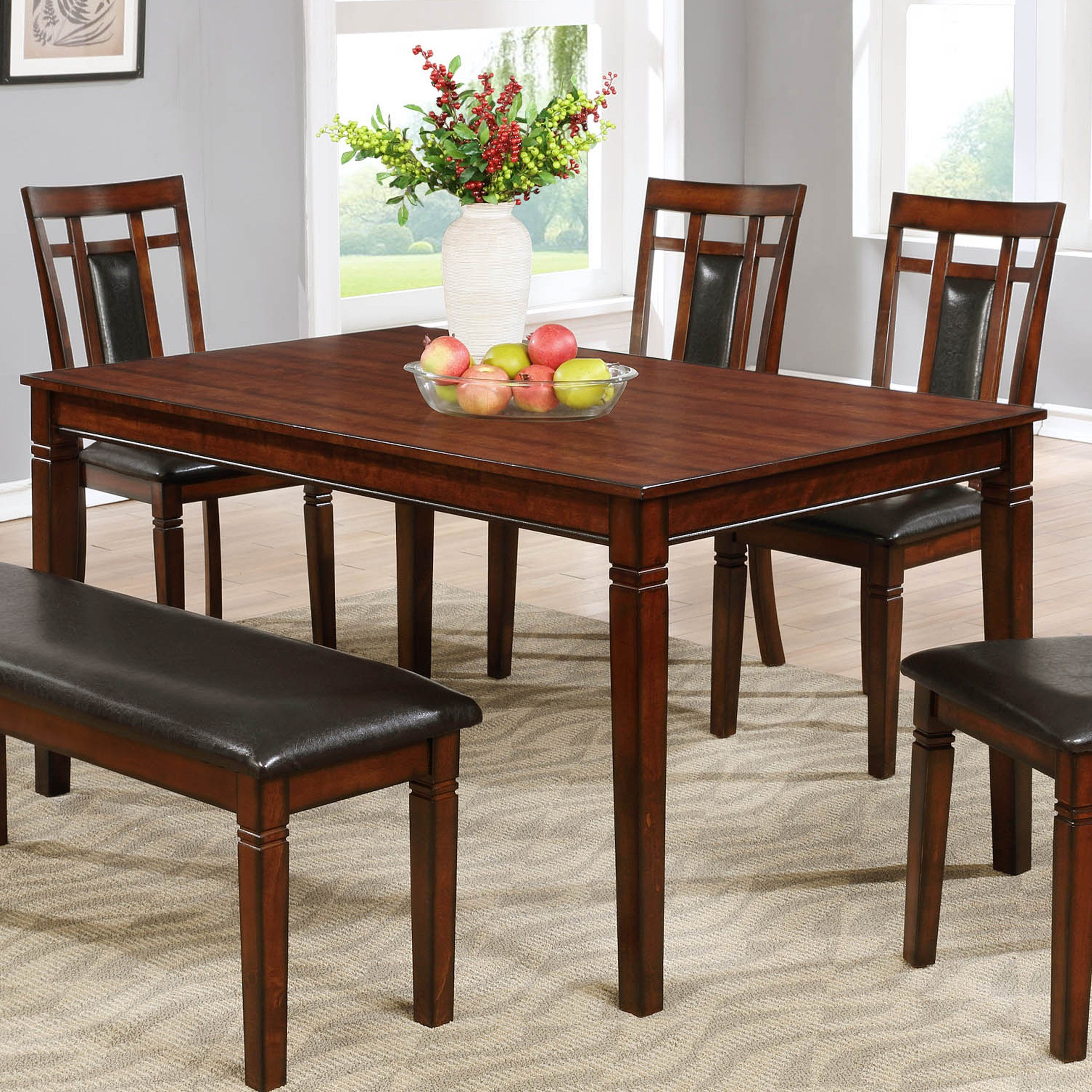 Phenomenal Best Master Mh03 Cherry Wood With Espresso Dining Table In Home Remodeling Inspirations Genioncuboardxyz