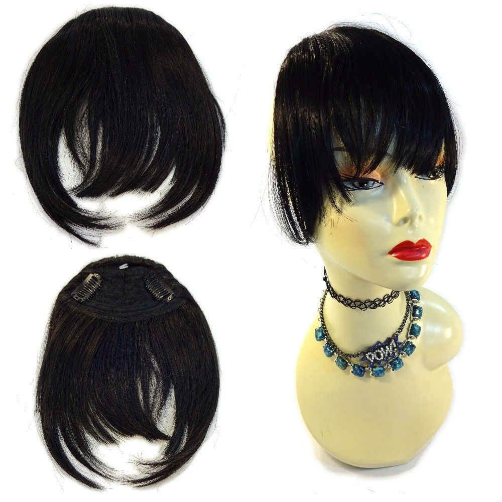 Futura Fiber ClipIn Bangs/Fringes, 1B Off Black at I Kick