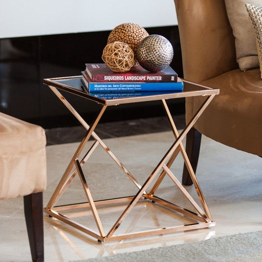 Features:  Contemporary Rose Gold Finish Geometric Stand Adds A Touch Of  Elegance.