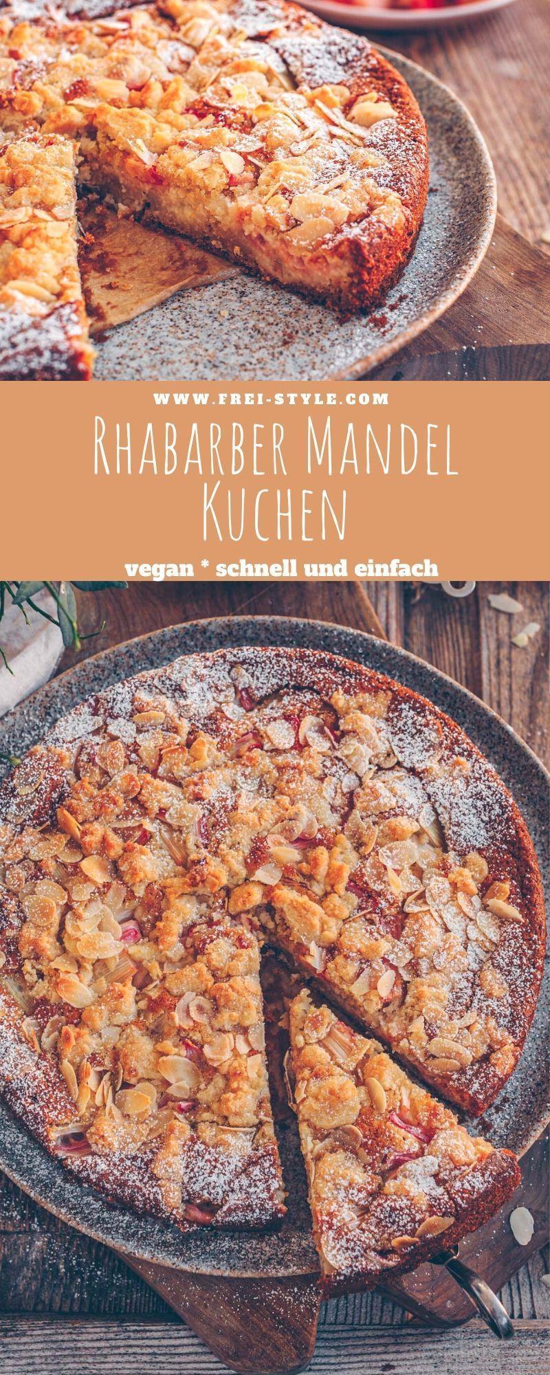 Rhabarber Mandel Kuchen * Freistyle