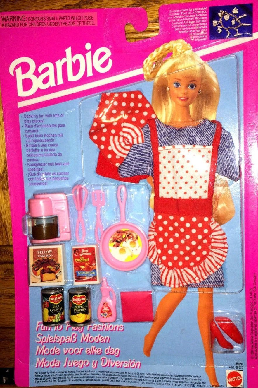 Barbie Fun to Play Fashions and Breakfast Time Accessories by Mattel, 1993