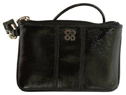 Coach Julia Spotlight Crinkled Patent Leather Small Wristlet Wallet