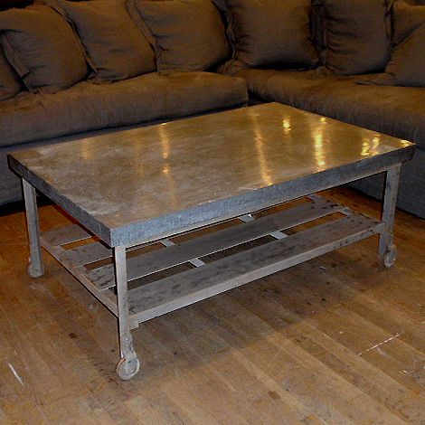 Industrial Galvanized Coffee Table