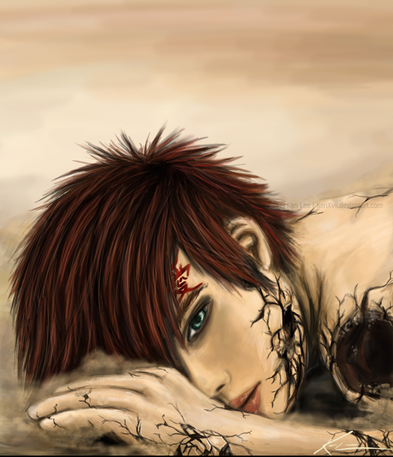 CG Gaara :Shattered Defeat by KenXVII on DeviantArt