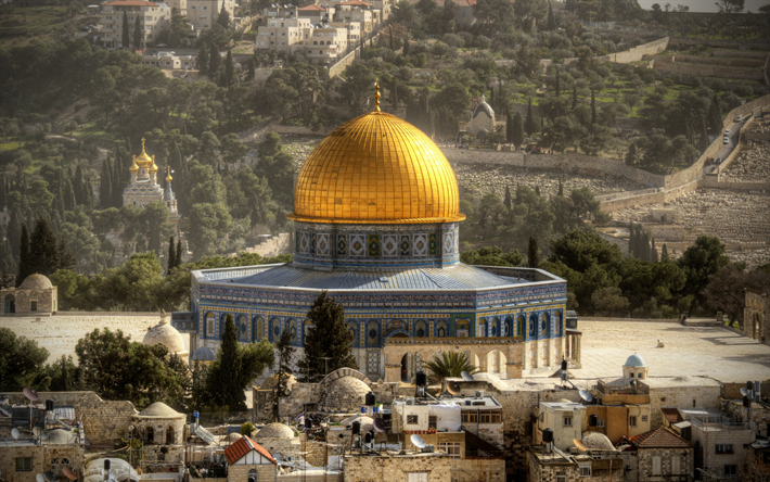 Download Wallpapers Temple Mount 4k Israeli Landmarks Haram Esh