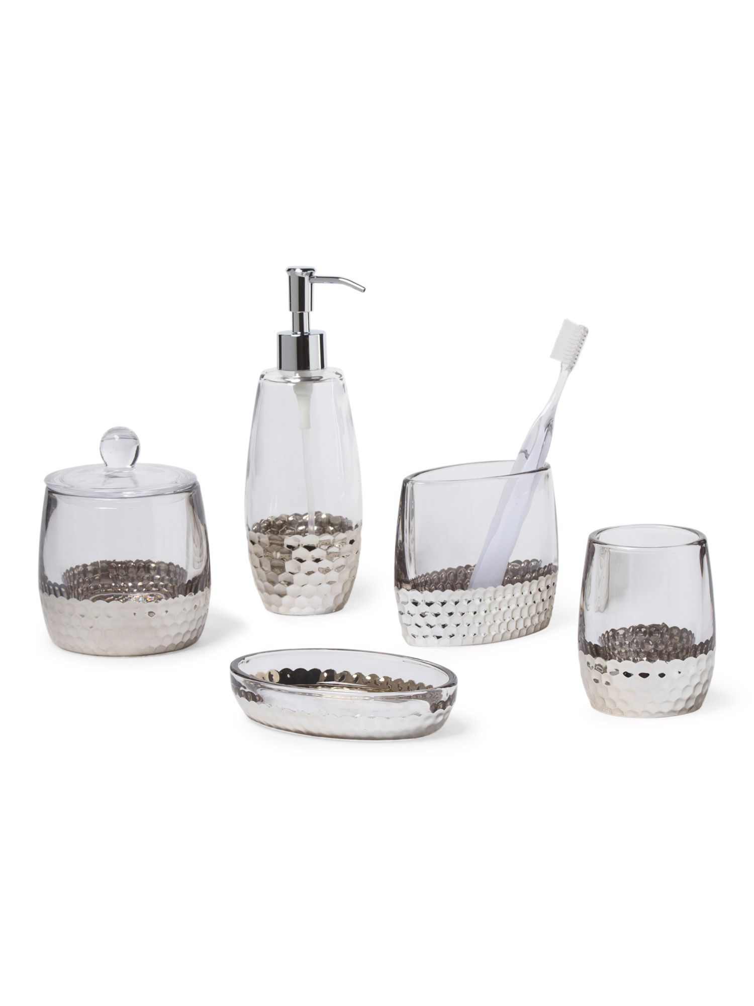 Bella Lux Silver Scallop Bath Collection T J Maxx Our