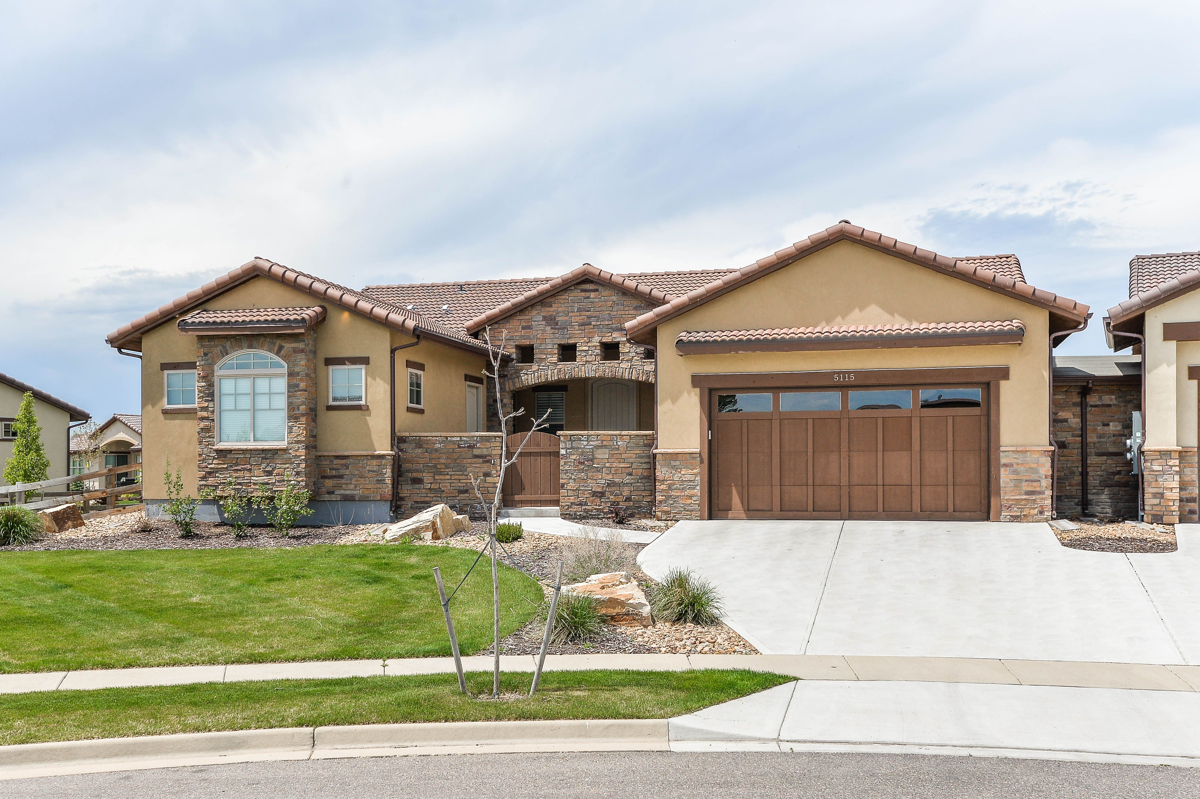 Patio Home, Sunrise Ridge Living, Spanish Style Home, Stucco, Fort Collins,