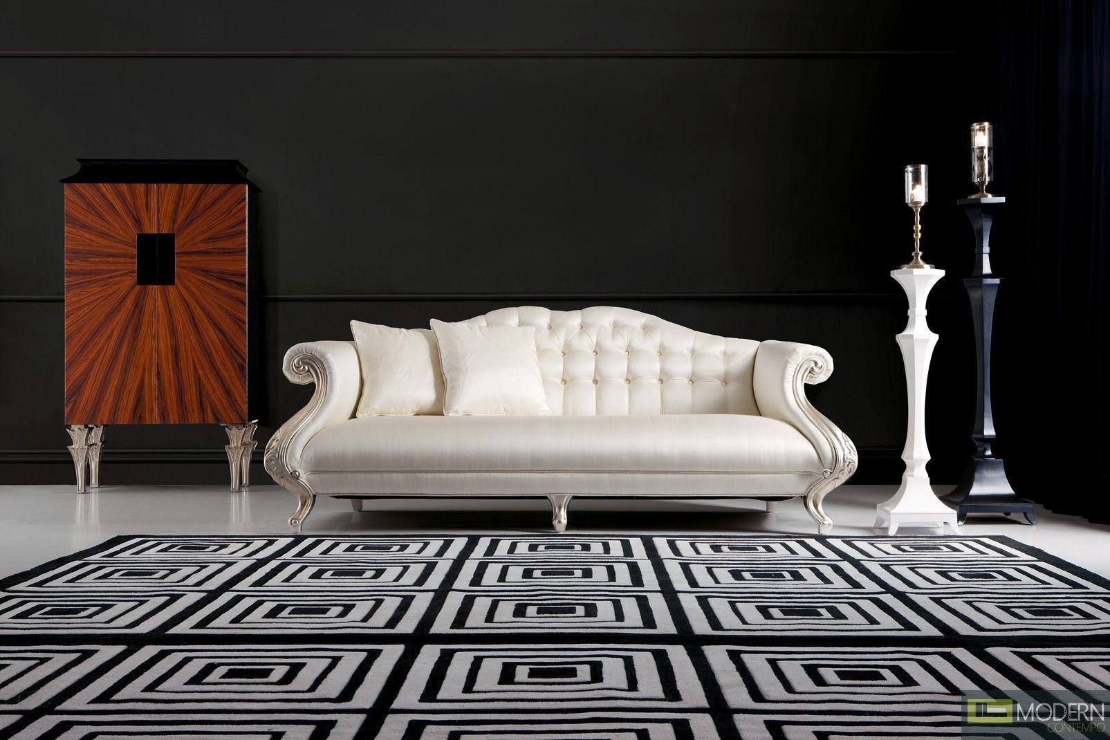 Avellino neo classic luxury italian sofa set 6 895 - Classic italian living room furniture sets ...