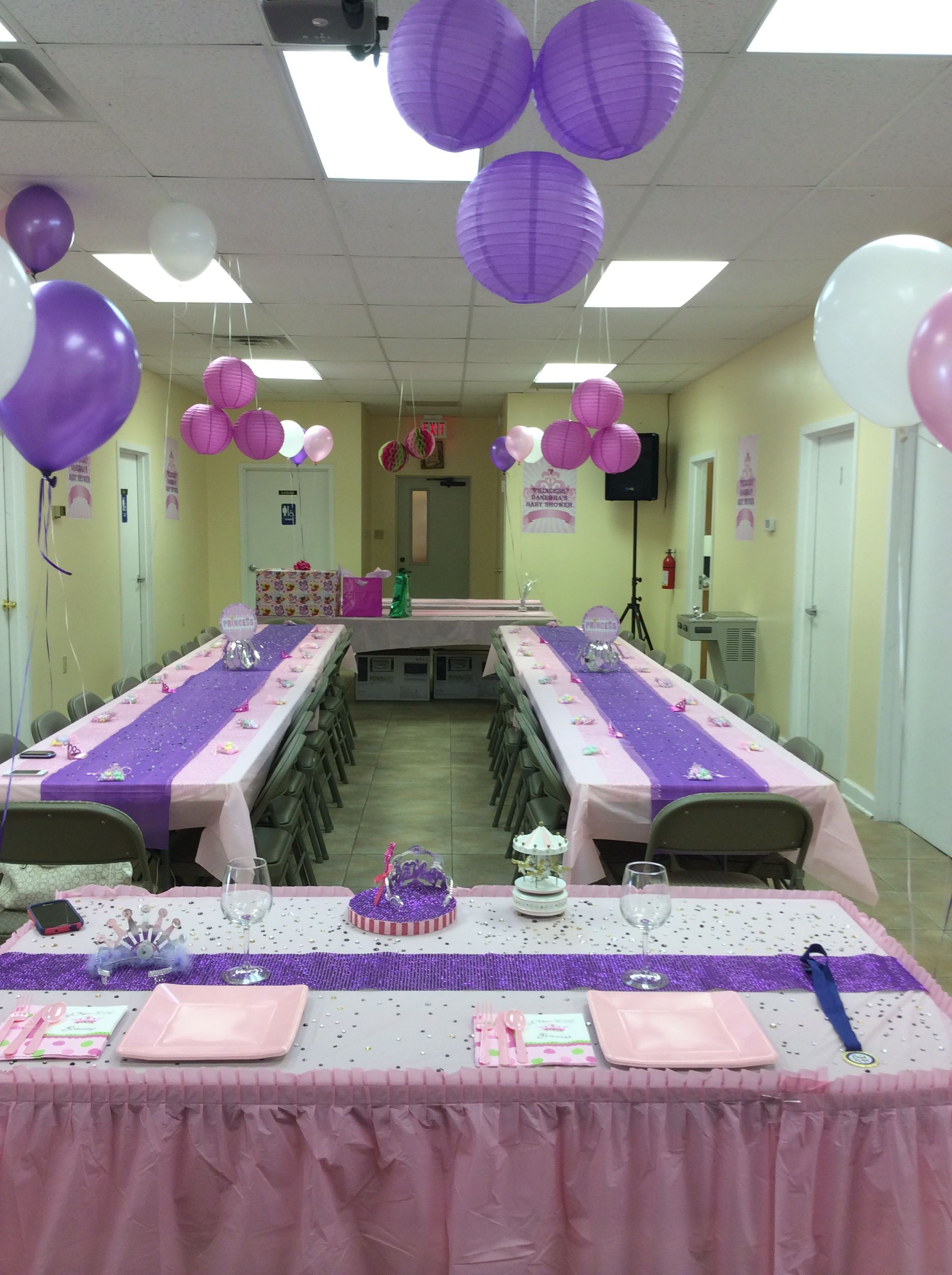 a new little princess baby shower hall decorations