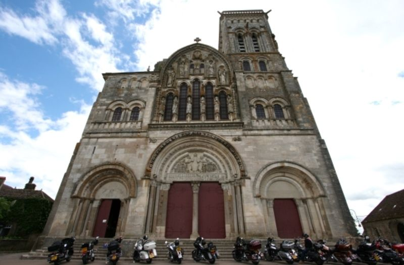 West Facade West facade of the Basilique Sainte-Marie-Madeleine, Vezelay.  Credit: Holly Hayes on Sacred Destinations