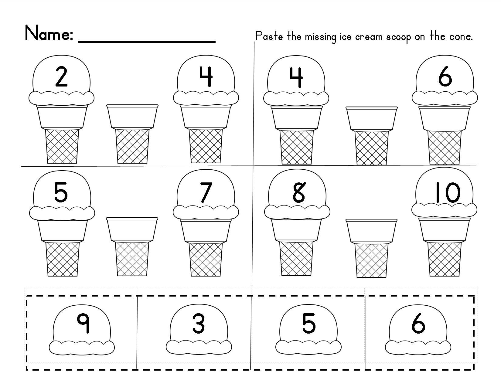 worksheet Missing Number Worksheets For Kindergarten missing numbers in a sequence 1 10 and 20 common core this