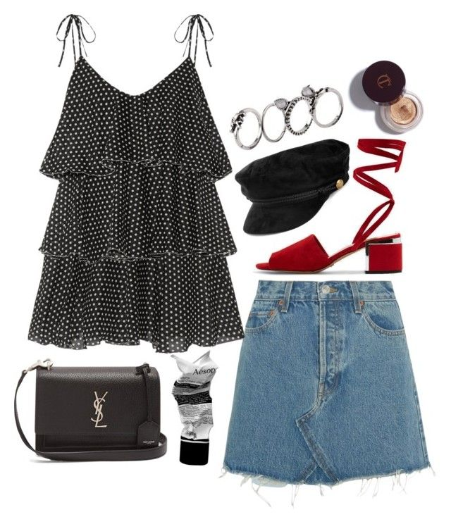 """""""Başlıksız #758"""" by cattieson ❤ liked on Polyvore featuring Topshop, RE/DONE, Lisa Marie Fernandez, Yves Saint Laurent and Aesop"""