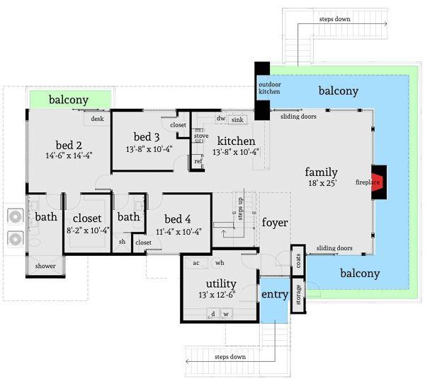 Plan 44122TD: Ultra Modern 4 Bed Beach Home Plan | House ...