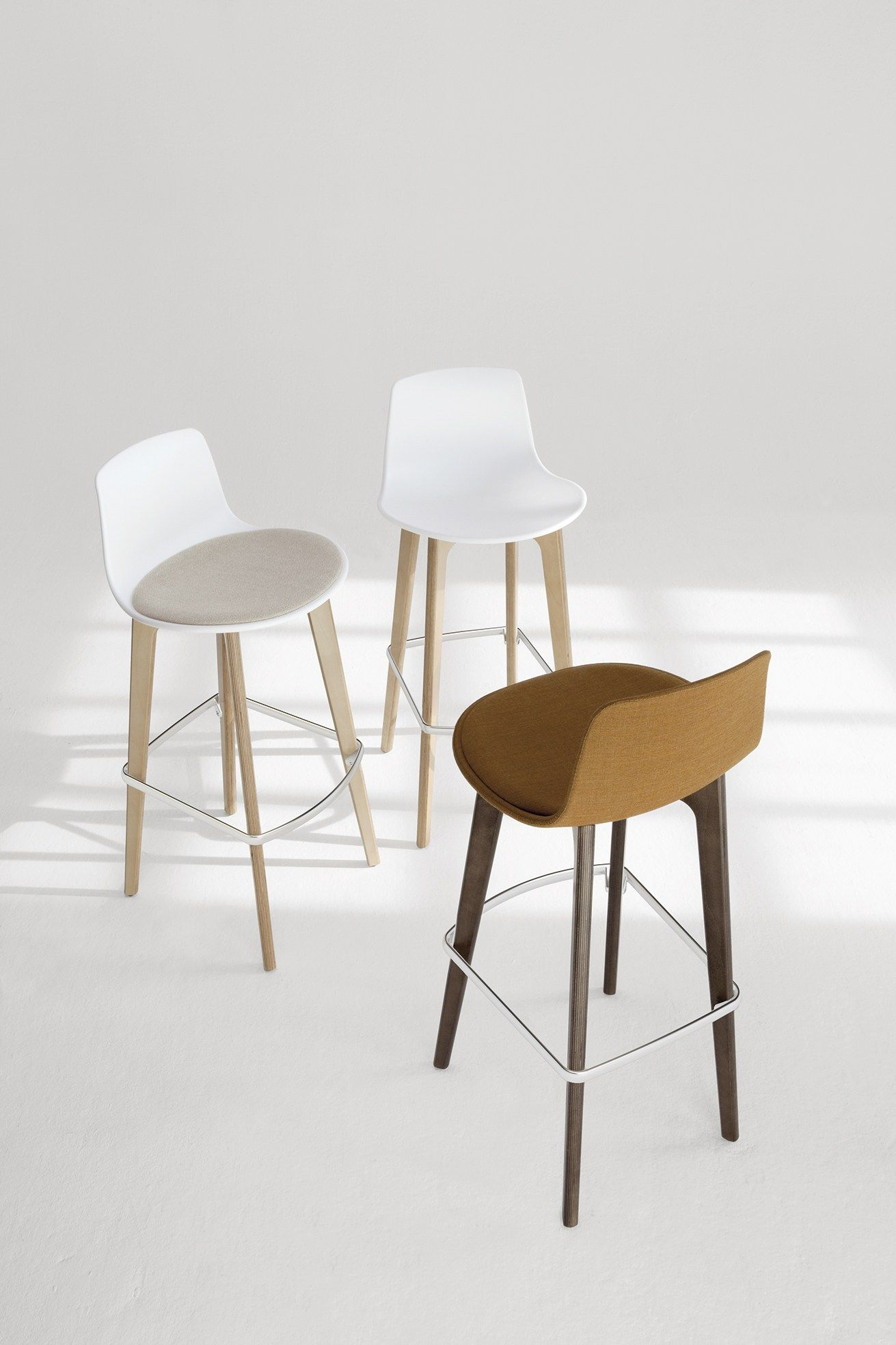lottus wood counter stool by enea design lievore altherr molina
