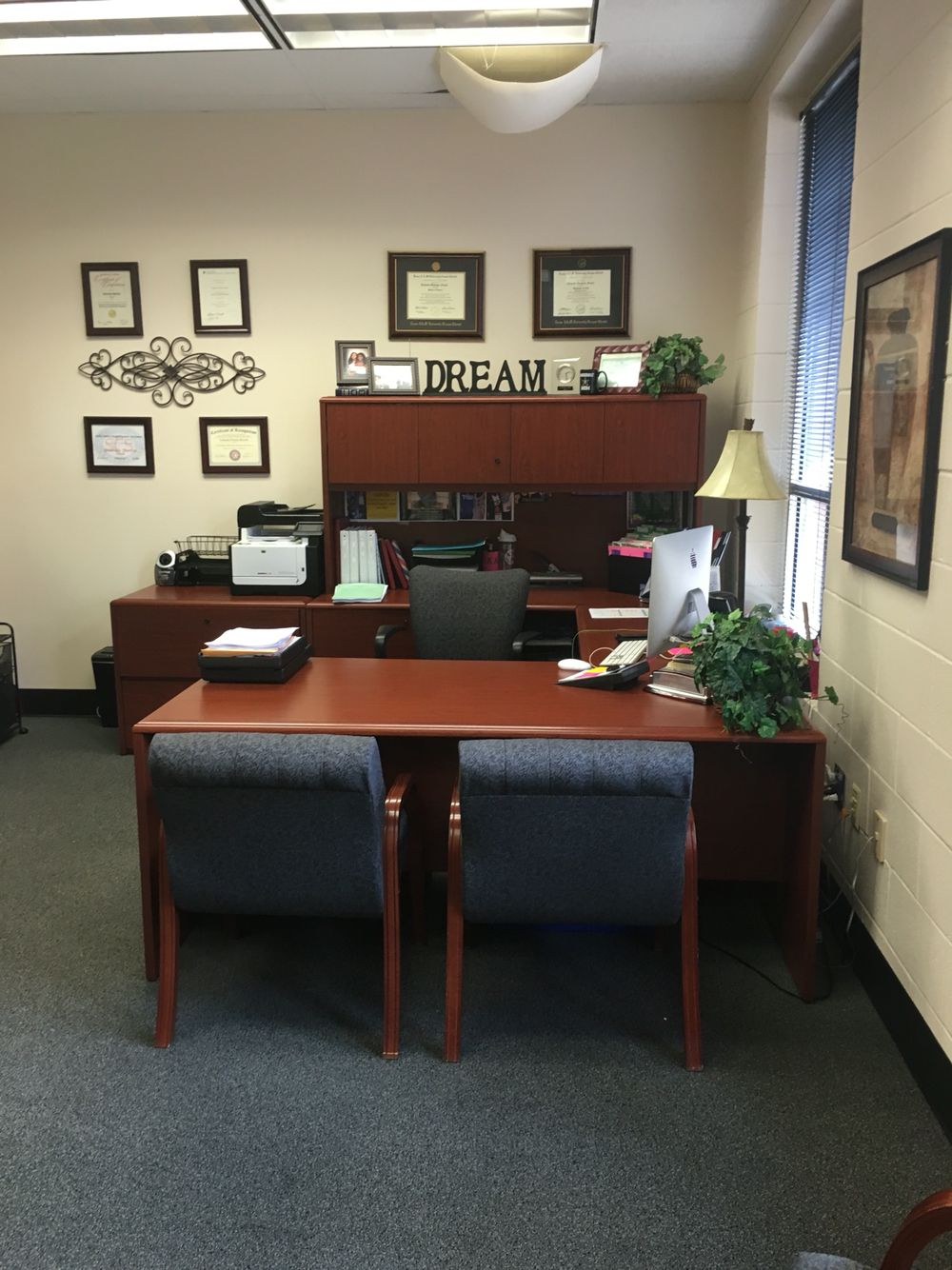 Principal S Office Decor Make Over Business Office Decor School