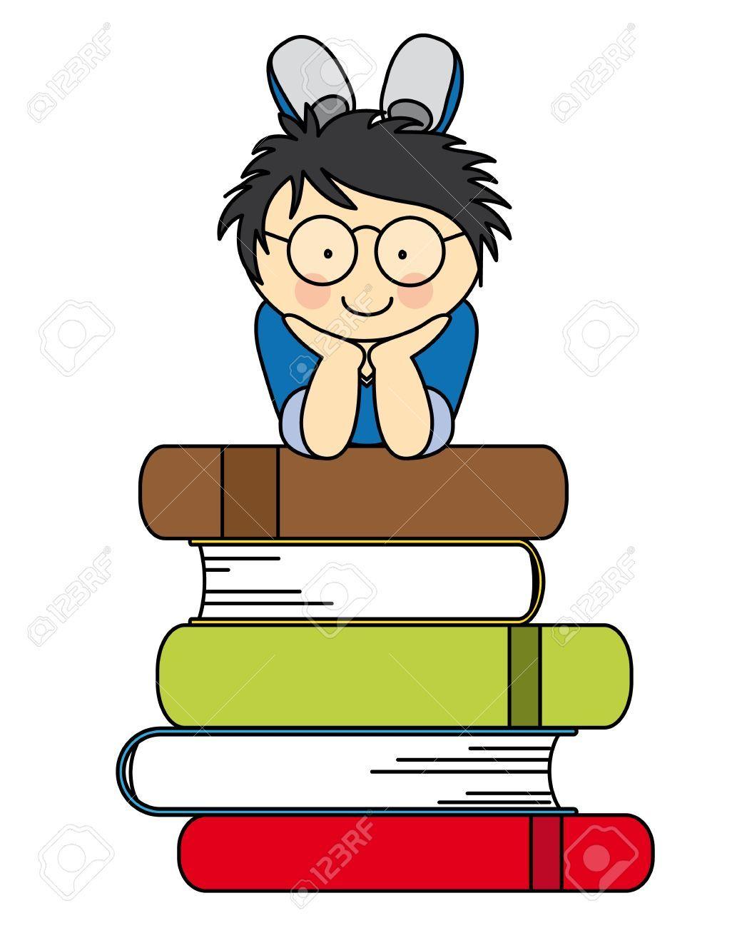 Nino Con Muchos Libros Diversion De Nuevo A La Escuela Dibujos Para Ninos Escuela Dibujo De Escuela