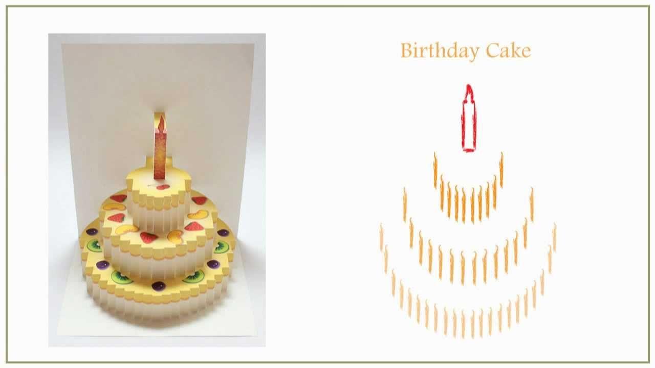 Pop Up Birthday Cake Card My Birthday Pinterest Card Templates