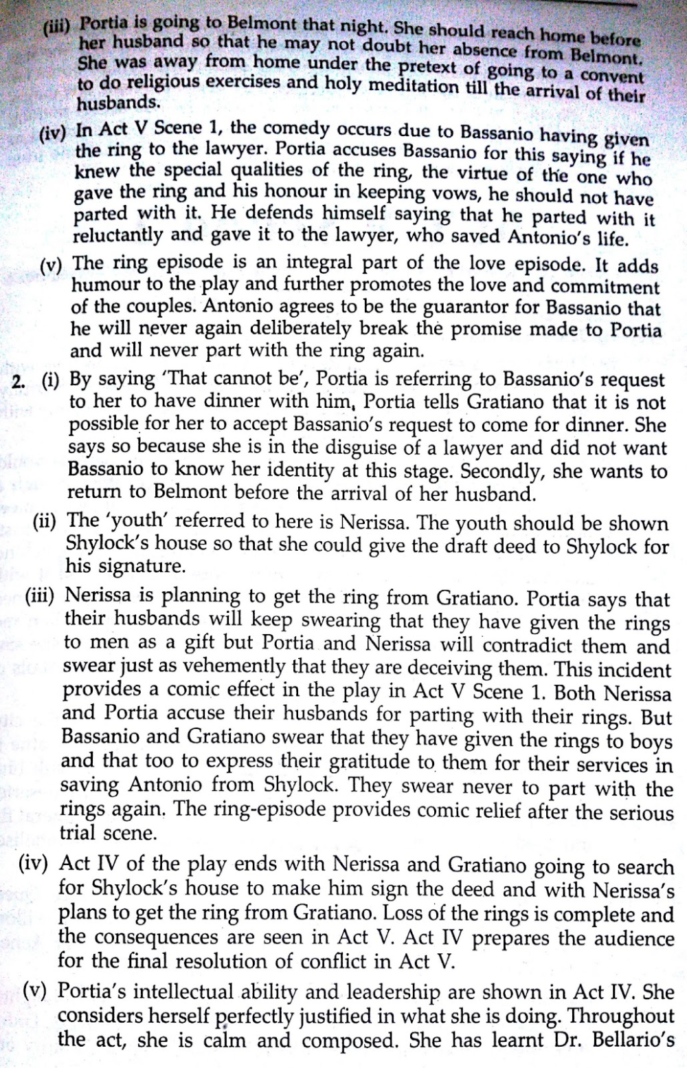 Solved Textbook Workbook Answer Solution Of The Merchant Venice Act 4 Scene 2 School Study Tips 3 Analysis