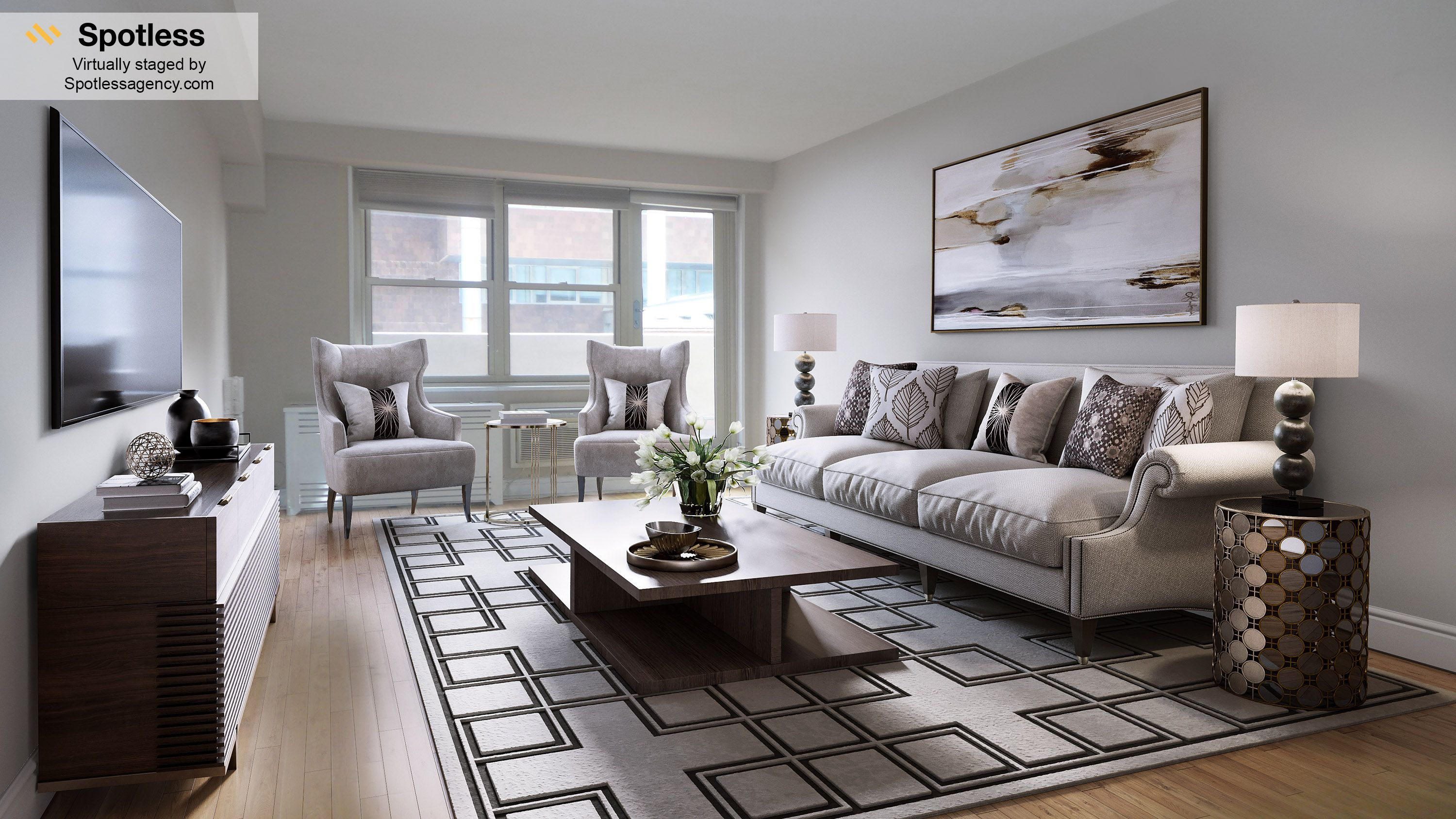 Virtual Staging Living room by Spotless Agency virtualystaging
