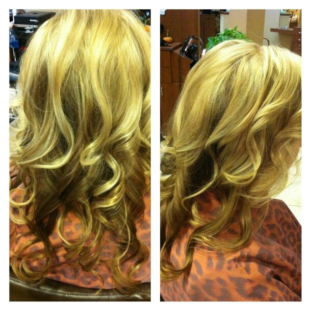 #blonde #highlights #blondehighlights #goldwell #newblonde #curls