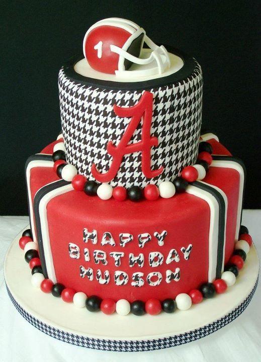 Miraculous Alabama Football Cake Hudsons 1St Birthday Cake Alabama Personalised Birthday Cards Veneteletsinfo